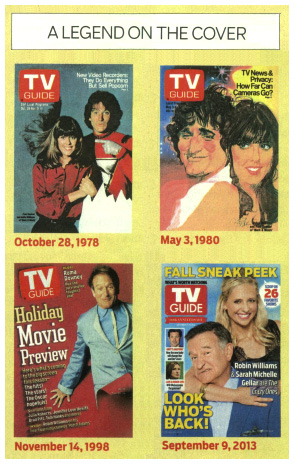 Robin Williams on TV Guide covers