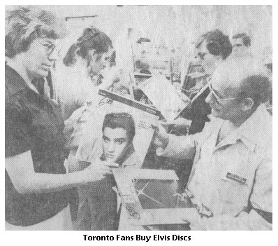 Fans Buying Elvis Albums
