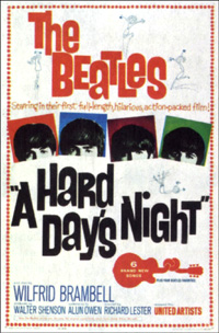 'A Hard Day's Night' - original movie poster
