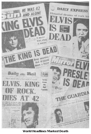Elvis Presley Death Headlines
