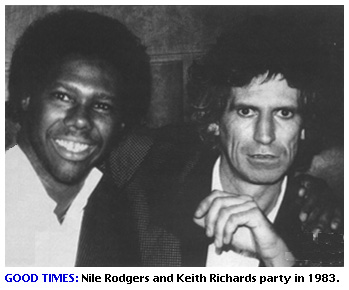 Nile Rodgers and Keith Richards