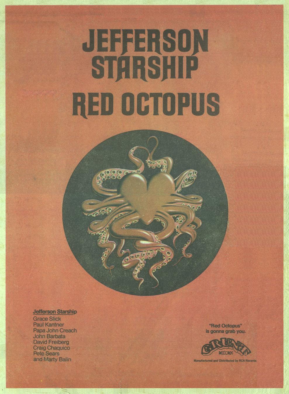 Jefferson Starship Red Octopus