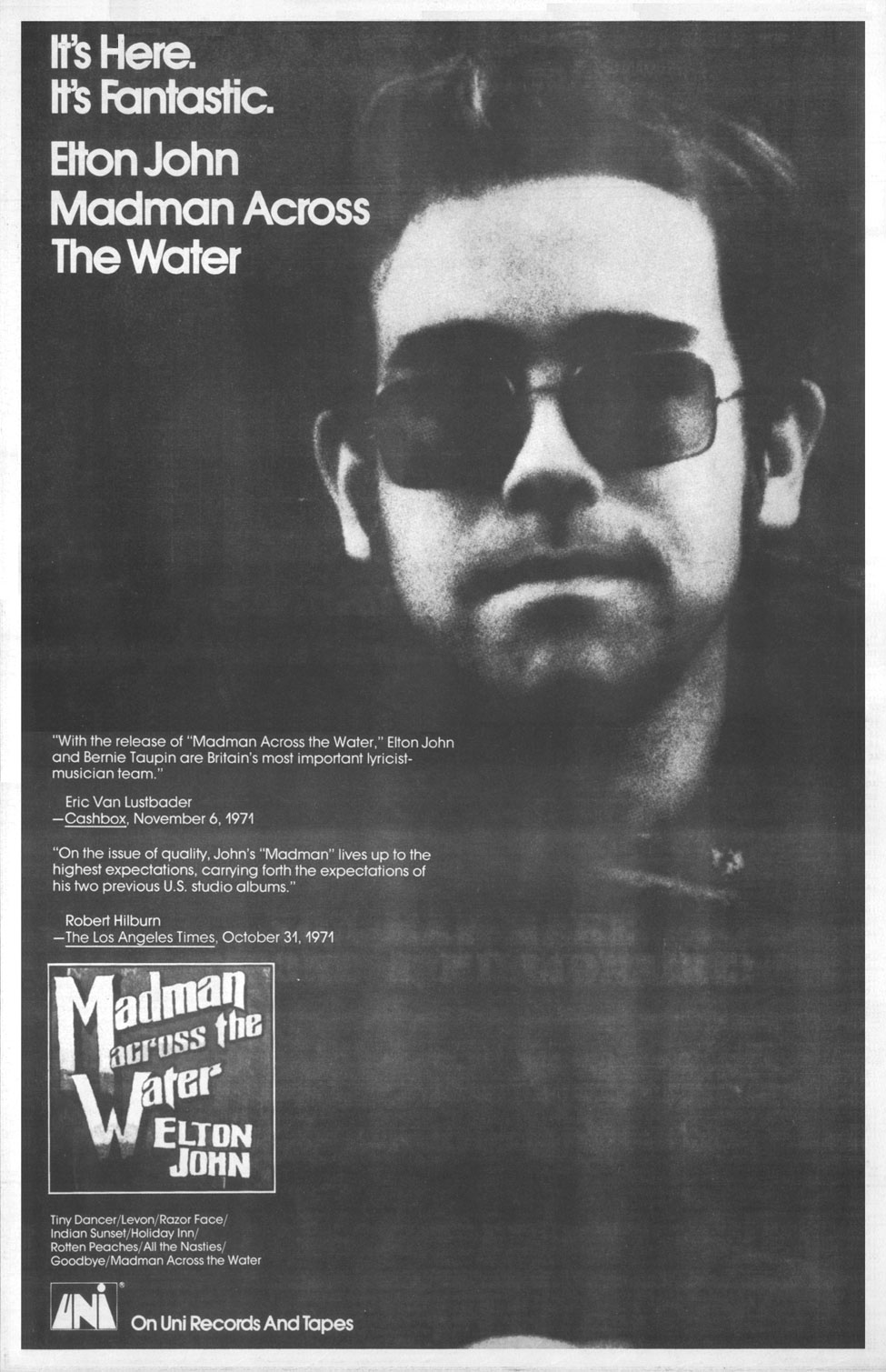 Elton John Madman Across The Water