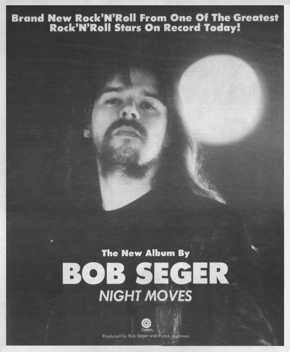 Bob Seger Night Moves Album Song List